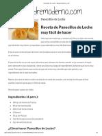 Panecillos de Leche - Elpadremoderno.com