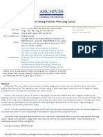 Coping, Distress, and Survival Among Patients With Lung Cancer_Faller et al 1999