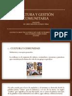 CULTURA Y GESTIÓN COMUNITARIA