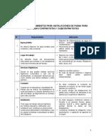 LISTA DE REQUISITOS PARA INSTALACIONES DE FAENA CONTRATISTAS EECC