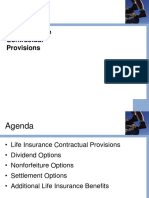 A. Life Insurance Contractual Provisions