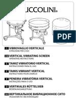 Manual de operarion Tamiz Vibratorio ES