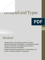 B. Dividend and its types-1