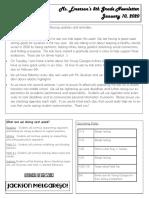 class newsletter 1-10-20