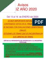 Avisos # 2 Ene 2020