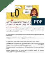 ARTÍCULO NEUTRO LO Y CÓMO NO EQUIVOCARSE CON EL Y LA.docx
