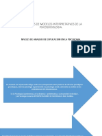 PROPUESTAS DE MODELOS INTERPRETATIVOS DE LA PSICOSOCIOLOGIA