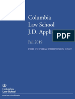 Columbia University Fall 2019 Sample Law Application