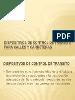 Dispositivos de control transito y transporte
