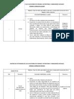MATRIZ DE ACTIVIDADES DE LAS VACACIONES DE VERANO