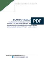 INFORME DE PLAN DE TRABAJO - HUANCAMUÑA