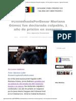 #CondenadaPorBesar Mariana Gómez fue declarada culpable, 1 año de prisión en suspenso - Agencia Presentes