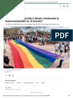 ¿Dónde es reconocida y dónde condenada la homosexualidad en el mundo_