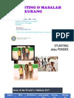 STUNTING & MASALAH GIZI KURANG_mamik fkm unair_Kalteng_30 Juli 2019.pptx