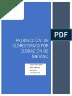 PRODUCCION DE CLOROFORMO