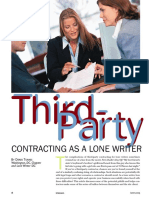 Third Party Contracting for a Lone Writer