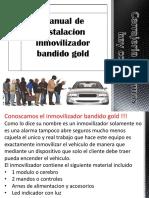 Manual de instalacion inmovilizador bandido gold y silver