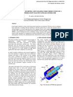 On the issues of starting and cogging force reduction of a tubular permanent magnet linear generator