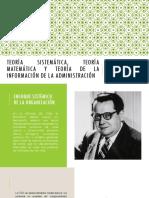 Teoría sistemática, teoría matemática y teoría de informacion (5)