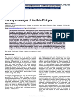 The Key Challenges of Youth in Ethiopia