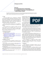 G61-86(2014) Standard Test Method for Conducting Cyclic Potentiodynamic Polarization Measurements for Localized Corrosion Susceptibility of Iron-, Nickel-, or Cobalt-Based Alloys
