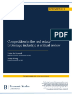 Competition in the real estate brokerage industry