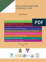 National Guigeline for Maternal Care Volume 03