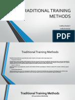 TRADITIONAL TRAINING METHODS (PMM)