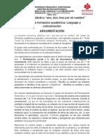 Planeación didáctica LENGUAJE Y COMUNICACION