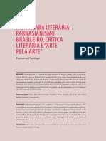 Parnasianismo brasileiro, crítica literária e arte pela arte (1)