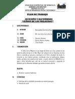 MODELO DE PLAN DE TRABAJO PARA ACTIVIDADES RELIGIOSAS