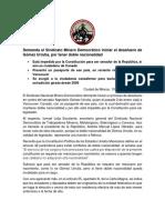 Comunicado desafuero Gómez Urrutia doble nacionalidad 10 de enero