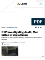 KSP investigating death; Man bitten by dog at home