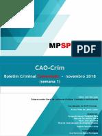 CAOCrim informativo novembro  2018 _1