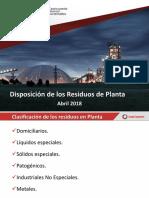 DISPOSICION RESIDUOS ABRIL 2018