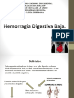 Hemorragia digestiva Baja.