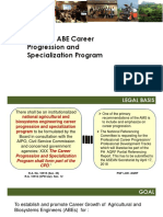 ABE CAREER PROGRESSION AND SPECIALIZATION