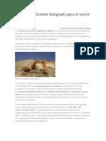 Sistema de Gestión Integrado para el sector minero