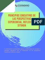 PRINCIPIOS EDUCATIVOS PERSPECTIVAS EXPERIENCIAL, REFLEXIVA SITUADA