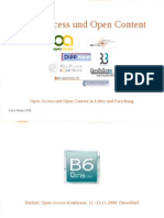 Open Access und Open Content in Lehre und Forschung