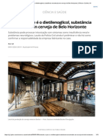 Entenda o que é o dietilenoglicol, substância encontrada em cerveja de Belo Horizonte