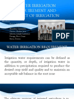 Water Irrigation Requirement & Impact of Irrigation - Dong-A Group