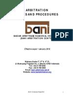 BANI Arbitration Rules and Procedures 2018-English