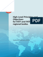 High-Level Principles and Objectives for FATF and FSRBs