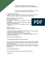 ISQC 1 Summary