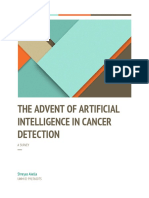 The advent of Artificial intelligence in cancer detection.