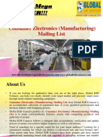 Consumer Electronics (Manufacturing) Mailing List