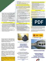 Carta de Servicios Entidad Estatal de Derecho Público TPFE