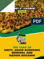 President Cyril Ramaphosa s ANC January 8 Statement