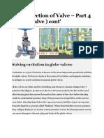 PART 87 - 1 Flow direction of Valve – Part 4 ( Globe valve )